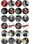 24 x The Rolling Stones Edible Wafer Rice Paper Cup Cake Toppers